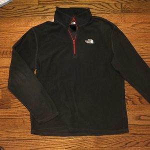 Men's Gray North Face 1/4 Zip